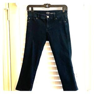 Dark denim capris